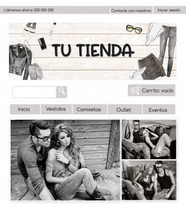 Tienda online moda mujer y hombre blanco y negro