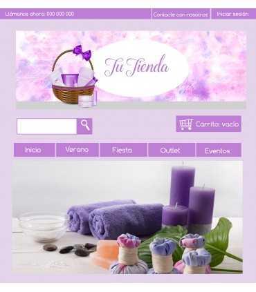 Tienda online cosmeticos lila