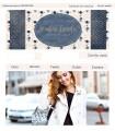 Tienda online azul y beige con flores para moda