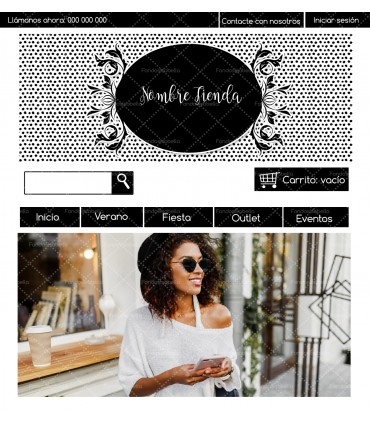 Tienda online barata moda chica blanco y negro