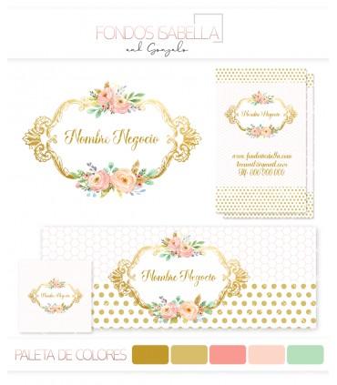 Kit profesional vintage oro y rosa