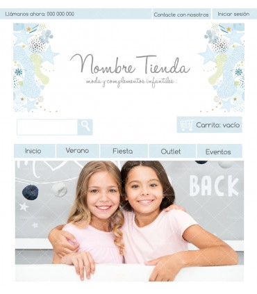 Tienda online barata infantil estrellas azules