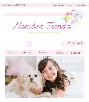 Tienda online barata para productos infantiles rosa y verde