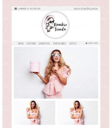 Tienda online moda chica rosa y gris