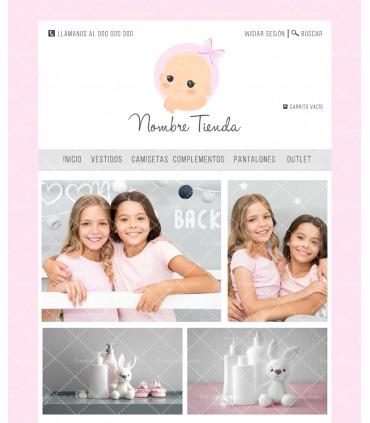 Tienda online infantil niña rosa