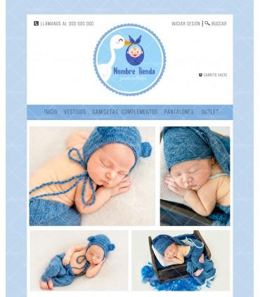 Tienda online puericultura azul barata