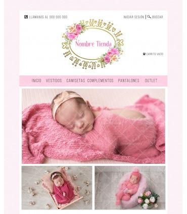Tienda online moda infantil barata oro y rosa
