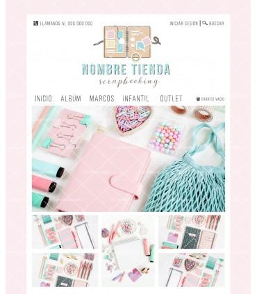 Tienda online scrapbooking rosa y turquesa