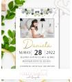Invitación Primera Comunión niña eucalipto elegante