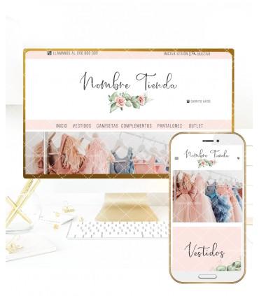 Tienda online elegance rosas color melocotón con logo incluido