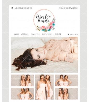 Tienda online mujer turquesa y rosa