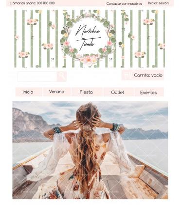 Tienda online barata moda mujer shabby chic verde