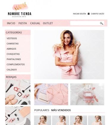 Tienda online barata moda mujer rosa y oro