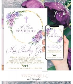 Invitación boda barata elegante