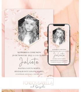 Invitación de boda barata elegante oro y plata