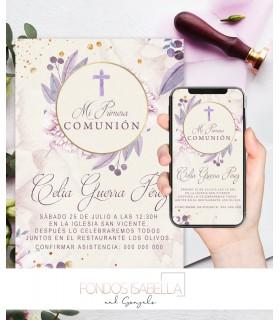 Invitaciones baratas de boda real