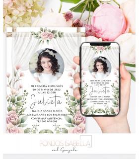 Invitaciones baratas de boda elegante Shabby chic