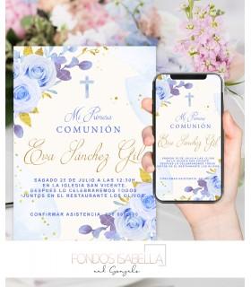 Invitaciones baratas de boda elegante verde y oro