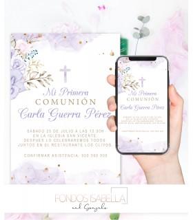 Invitaciones baratas de boda estilo boho