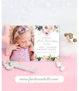 Invitación boda barata watercolor rosa y oro