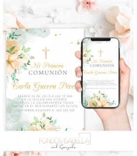 Invitación boda barata romántica elegante