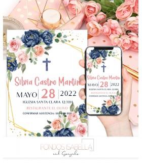 Invitaciones baratas de boda romántica