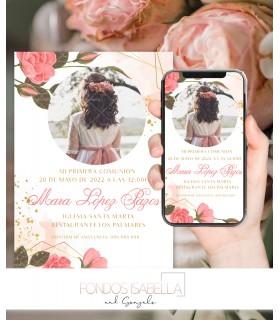 Invitación boda barata romántica