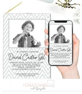 Invitación boda barata boho