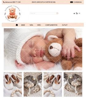 Tienda online barata prestashop moda infantil osito azul