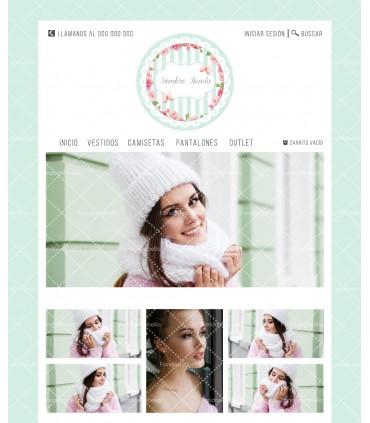 Tienda online moda mujer mariposas y verde agua