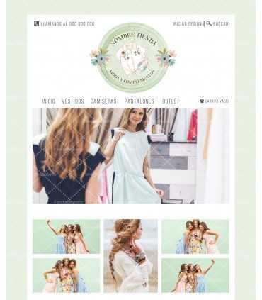 Tienda online para venta de ropa de chica verde agua