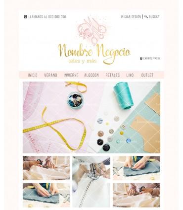 Tienda online telas rosa y oro