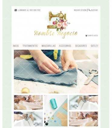 Tienda online para negocio de telas o merceria