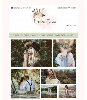 Tienda online moda mujer boho plumas y flores