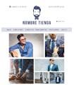 Tienda online moda hombre silueta azul