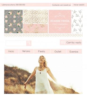 Tienda online moda chica shabby chic gris y rosa