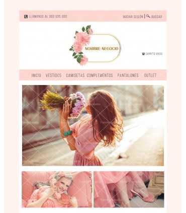 Tienda online ropa mujer oro y rosa