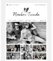 Tienda online moda chica love blanco y negro