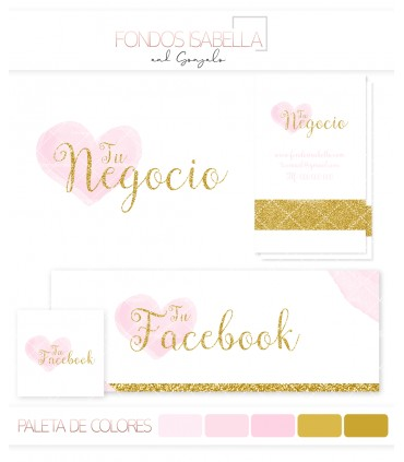 Kit profesional pink and gold