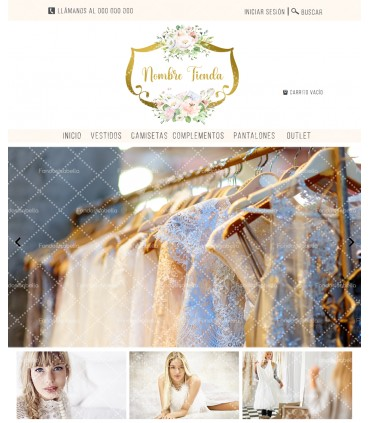 Tienda online elegance shabby chic oro mas logo
