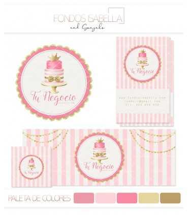 Kit profesional cake rosa y oro