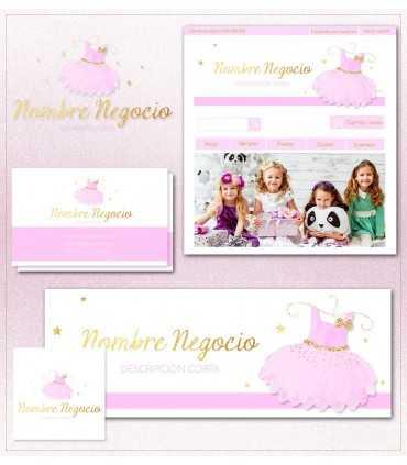 Tienda online vestido rosa mas kit profesional
