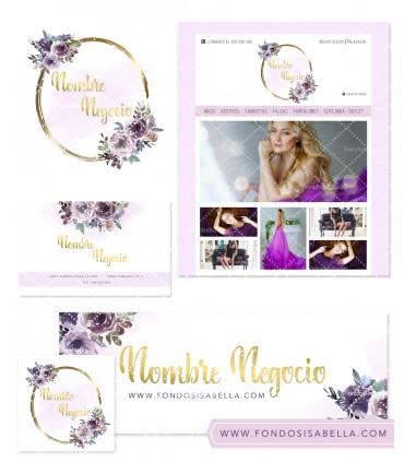 Tienda online vintage oro y lila mas kit profesional