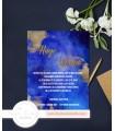 Invitación de Boda romántica noche clara y oro