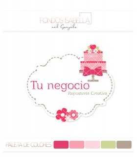 Logo marco de flores