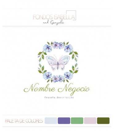Logo mariposa lila