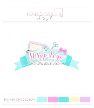 Logo scrap turquesa y rosa