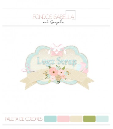 Logo scrap tonos pastel