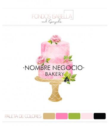Logo repostería creativa tarta rosa