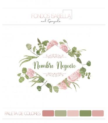 Logo flores rombo